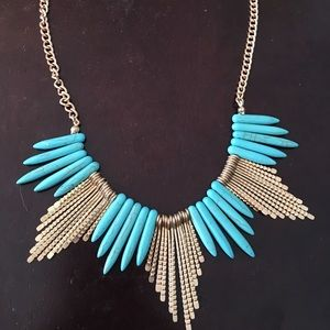 Jewelry - Turquoise and Gold Necklace